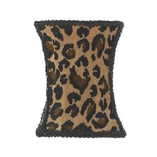 <strong>Jubilee Collection</strong> Leopard Print Hourglass Chandelier Shade