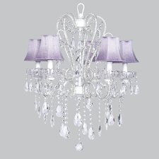 Carousel 5 Light Chandelier with Bell Shade