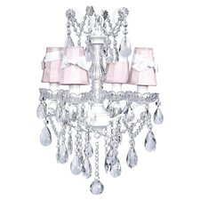 Crystal Glass Center 4 Light Chandelier