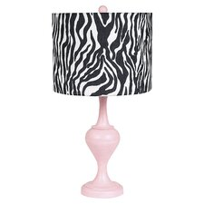 Curvature Large Table Lamp with Zebra Drum Shade
