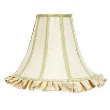 "12"" Ruffle Edge Dupioni Silk Bell Shade"