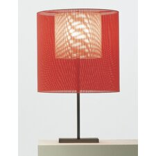 "Moare 39.37"" H Table Lamp with Drum Shade"