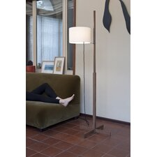 TMM Walnut Floor Lamp  with Parchment Shade