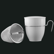 <strong>mono</strong> Mono Gemiini Tea Mug with Infuser Lid and Saucer by Mikaela Dörfel