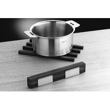 <strong>mono</strong> Mono 6 piece Wood Trivet Sticks with Stainless Steel Stand