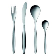 42 Collection Stainless Steel 20 Piece Flatware Set