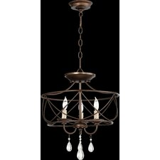 Cilia 3 Light Candle Chandelier