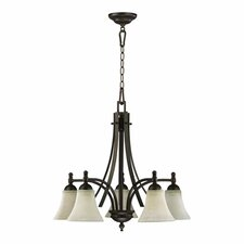 <strong>Quorum</strong> Aspen 5 Light Nook Chandelier