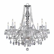 <strong>Quorum</strong> Bohemian Katerina 12 Light Chandelier in Chrome