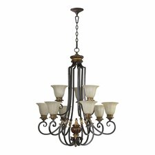 <strong>Quorum</strong> Capella 9 Light Chandelier