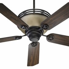 "<strong>Quorum</strong> 52"" Lone Star 5 Blade Ceiling Fan with Remote"