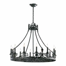 <strong>Quorum</strong> Lorenco 12 Light Chandelier
