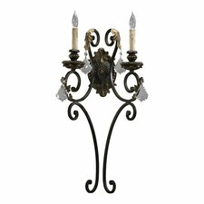 <strong>Quorum</strong> Rio Salado 2 Light Wall Sconce