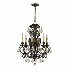 Rio Salado 6 Light Chandelier in Toasted Sienna