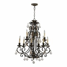 Rio Salado 9 Light Chandelier in Toasted Sienna