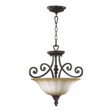 <strong>Quorum</strong> Summerset 3 Light Convertible Inverted Pendant