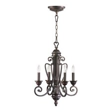 <strong>Quorum</strong> Summerset 4 Light Entry Chandelier