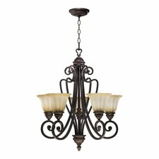 Summerset 5 Light Chandelier in Toasted Sienna