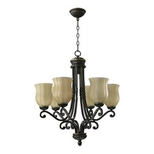 <strong>Quorum</strong> Tribeca 6 Light Chandelier