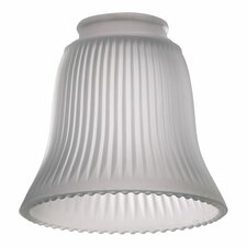 <strong>Quorum</strong> Frost Ribbed Bell Glass Shade for Ceiling Fan Light Kit