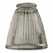 "5"" x 5"" Clear Ribbed Bell Glass Shade for Ceiling Fan Light Kit"