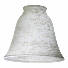 Linen Glass Shade for Ceiling Fan Light Kit