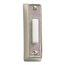 Plastic Door Chime Button in Satin Nickel