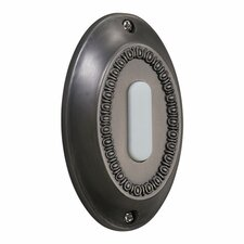 Basic Oval Door Chime Button in Antique Silver
