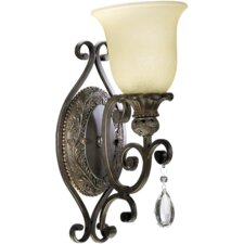 <strong>Quorum</strong> Fulton 1 Light Wall Sconce with Glass Shade