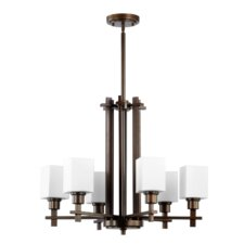 <strong>Quorum</strong> Tate 6 Light Chandelier