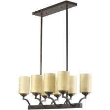 <strong>Quorum</strong> Atwood 8 Light Kitchen Island Light in Oiled Bronze