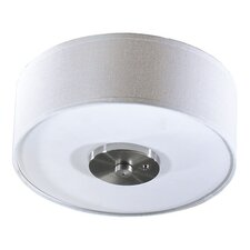 <strong>Quorum</strong> 3 Light Fabric Drum Ceiling Fan Light Kit