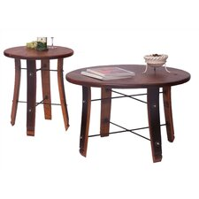 Round Stave Coffee Table Set