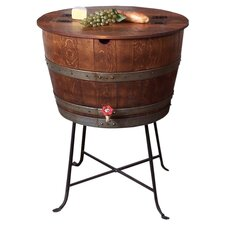 Bistro Barrel Wood Beverage Tub