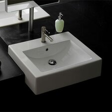 <strong>Scarabeo by Nameeks</strong> Semi Recessed Single Hole Bathroom Sink