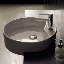 Geo Semi Recessed Single Hole Bathroom Sink