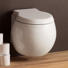 <strong>Scarabeo by Nameeks</strong> Planet Wall Mounted Round 1 Piece Toilet