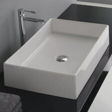 Teorema Rectangular Vessel Bathroom Sink