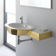 <strong>Scarabeo by Nameeks</strong> Wish Wall Mount Bathroom Sink with Right Counter