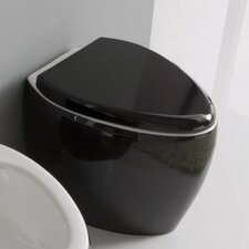 Moai Floor-Mounted Elongated 1 Piece Toilet