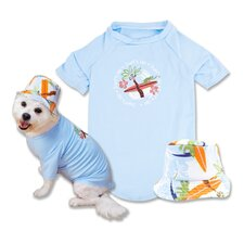 Surf's Up Dog T-Shirt and Hat in Blue