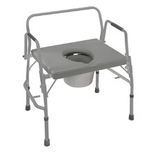 DMI® Extra Wide Heavy Duty Drop Arm Steel Commode