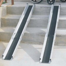 "60"" L x 7"" W Telescoping Adjustable Wheelchair Ramps"