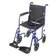 "19"" Aluminum Transport Wheelchair"