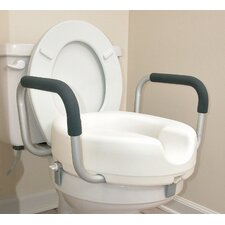 <strong>Briggs Healthcare</strong> Raised Locking Toilet Seat with Arms