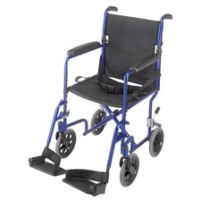 "19"" Ultra Lightweight Aluminum Transport Chair"
