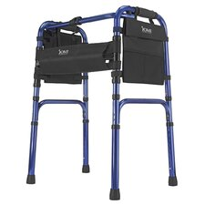<strong>Briggs Healthcare</strong> Freedom Series Deluxe Aluminum Folding Walker in Blue
