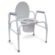 Extra-Wide Heavy-Duty Steel Commode