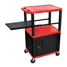 Presentation Cart with Side Pullout Shelf
