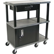 <strong>H. Wilson Company</strong> Tuffy Presentation Station with Black Drawer Cabinet